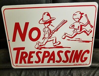 """METAL NO TRESPASSING SIGN 9"""" x 12"""""""