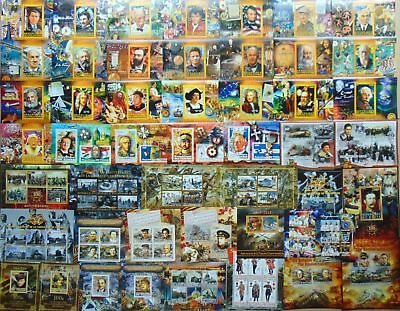 600 different mint MINI SHEETS & SOUVENIR SHEETS MNH beautiful Composition Lot