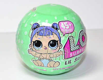 (1) LOL Surprise! Series 2 Wave 2 LIL Sisters Green Ball L.O.L. Authentic SEALED