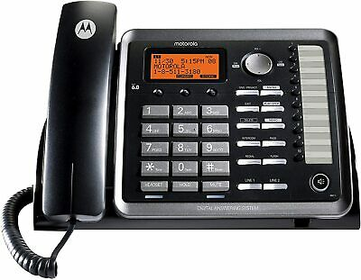 Motorola Ml25254 Dect 6.0 Expandable Corded 2-line Business Phone With Caller Id