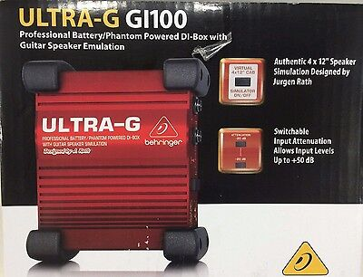 Behringer - Ultra-G GI-100 - DI Box with Speaker Simulation for Electric Guitars