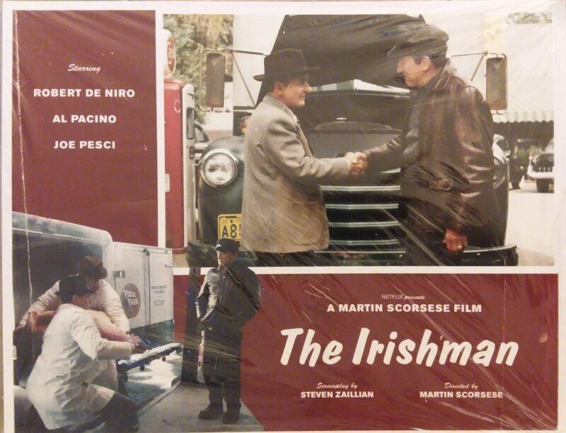 "5x LOT- THE IRISHMAN NETFLIX 11x14"" Lobby Cards #6-10 Pacino DeNiro Pesci SEALED"