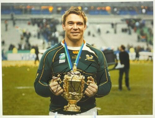 John Smit South Africa Rugby Signed 12x8 Photo AFTAL OnlineCOA