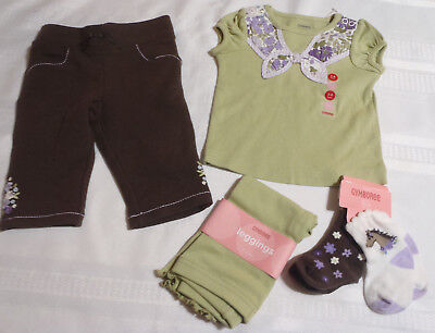 Gymboree Cowgirls At Heart 3-6 Month Leggings Pants Shirt Socks Outfit NWT](Cowgirls Outfits)