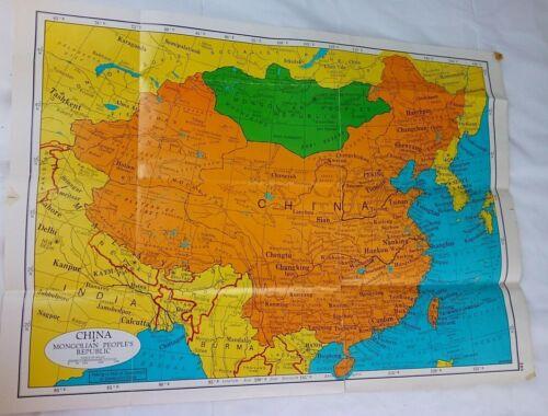 1950s Map of Asia,Cram