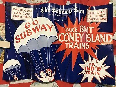 NY Subway Subway Sun Ad 24 No 7 Coney Island Amelia Opdyke Jones, a.k.a.