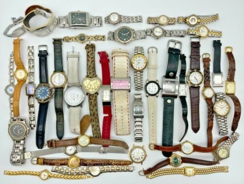 Lot of 40 GUESS Watches, Modern to Vintage, Quartz Steel/Leather, Men