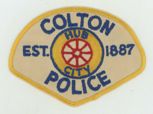 Colton Police Department California Vintage Cheesecloth