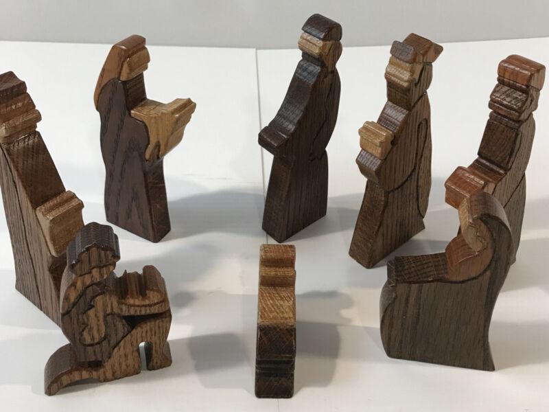 Handcarved Wood Nativity Set