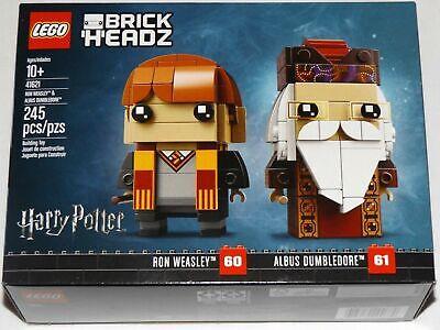 Lego BrickHeadz 41621 Ron Weasley & Professor Albus Dumbledore Harry Potter MISB