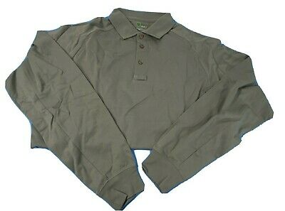 NWT HORACE SMALL NEW DIMENSION SPECIAL OPS LONG SLEEVE POLO GREY SIZE LARGE