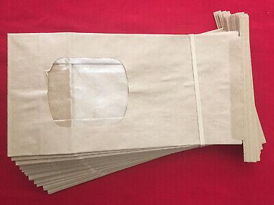 Brown Bakery Bags With Window Kraft Paper Bags - 25 Bags