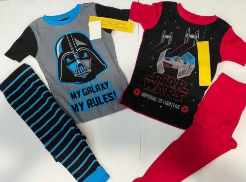 Boys (sz6) Star Wars Short Sleeve & Pants Darth Vader and Star Ship Pajama Combo