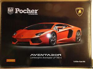 Pocher-Lamborghini-Aventador-LP700-4-Orange-Argo-1-8-Diecast-Model-Car-Kit-HK100