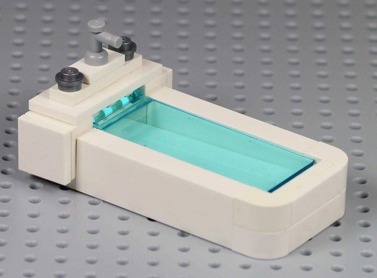 LEGO - BATHTUB w/ Shampoo Soap Bottle Spa Bathroom Furniture ...