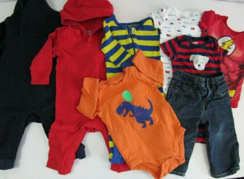 6-12 Month Baby Boy Clothes - Lot Of 8 - Carter
