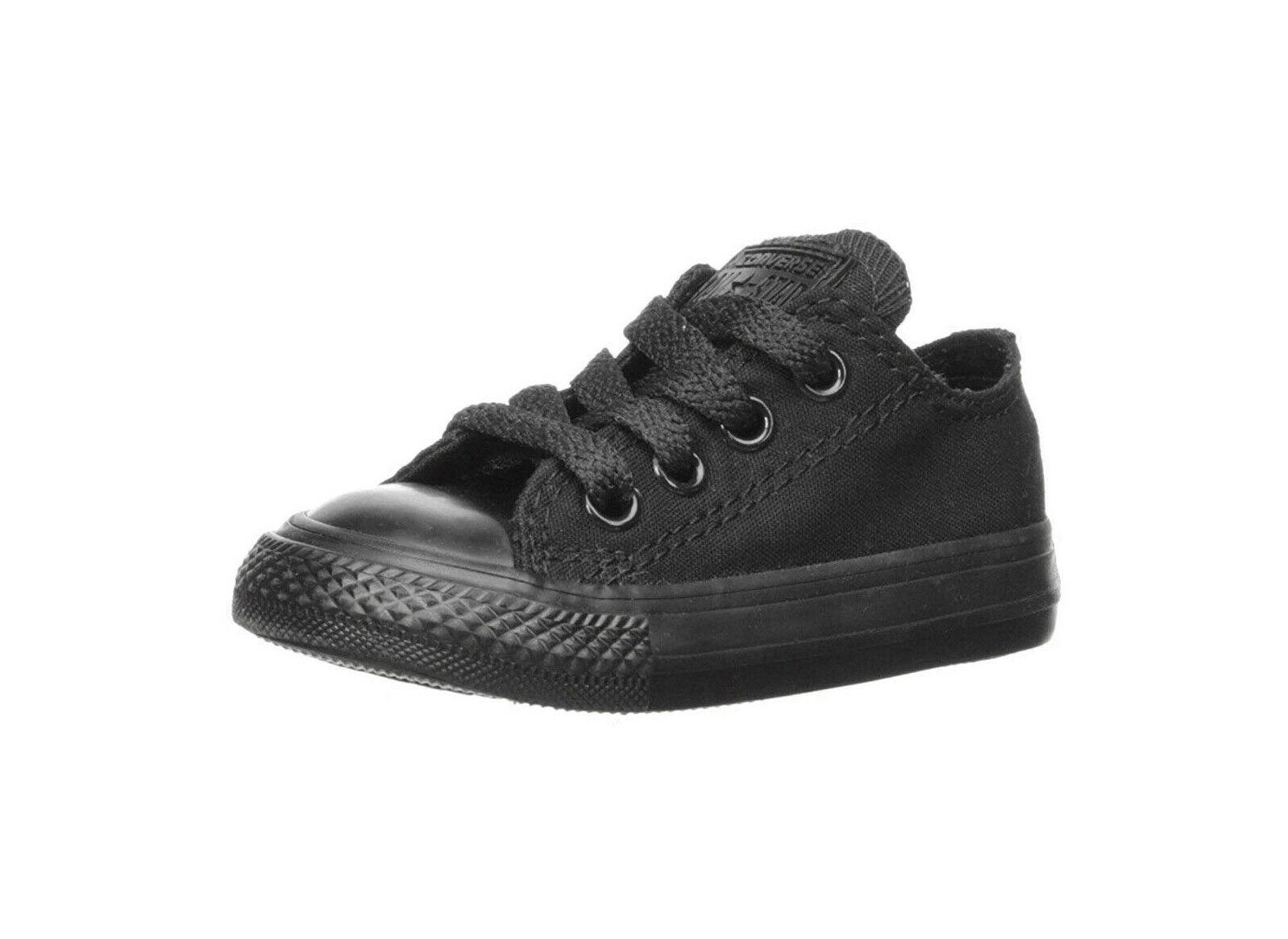 Converse All Star Low Chucks Infant Toddler All Black Canvas Girl Shoes 714786F
