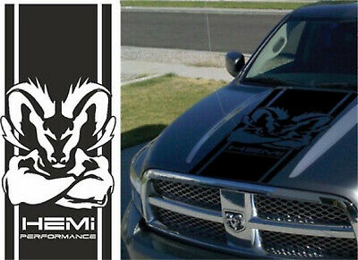 Dodge Ram 1500 2500 350 Hemi hood decal Decal Racing Vinyl Stripes Sticker #9