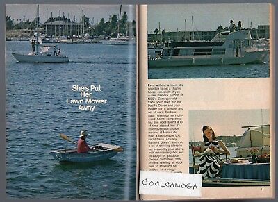 1974 TV ARTICLE~BARBARA FELDON HOUSEBOAT MARINA DEL REY LA YACHT BASIN~GET Intelligent