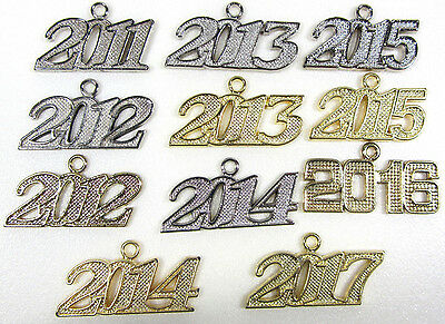 NEW Graduation Year Date Charms for Tassel 2011 2012 2013 2014 2015 2016 2017 - Graduation Charms