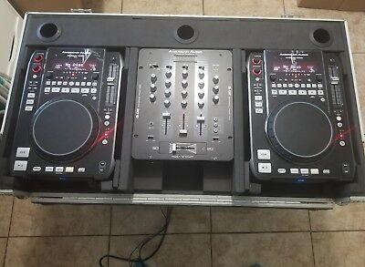 AMERICAN AUDIO RADIUS 1000 MIXER TURNTABLE SET AMP SPEAKERS DJ DEEJAY CD MP3 -