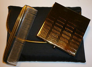 VINTAGE REX FIFTH AVENUE CARRY ALL COMPACT & COMB SET