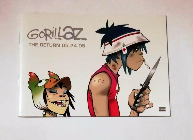Gorillaz The Return Demon Days Promotional Artwork Book 2005 Excellent Condition