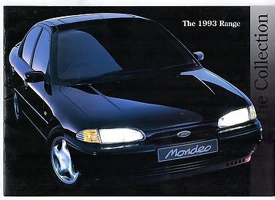 Ford Early-Mid 1993 UK Market Brochure Fiesta Escort Orion Mondeo Granada RS