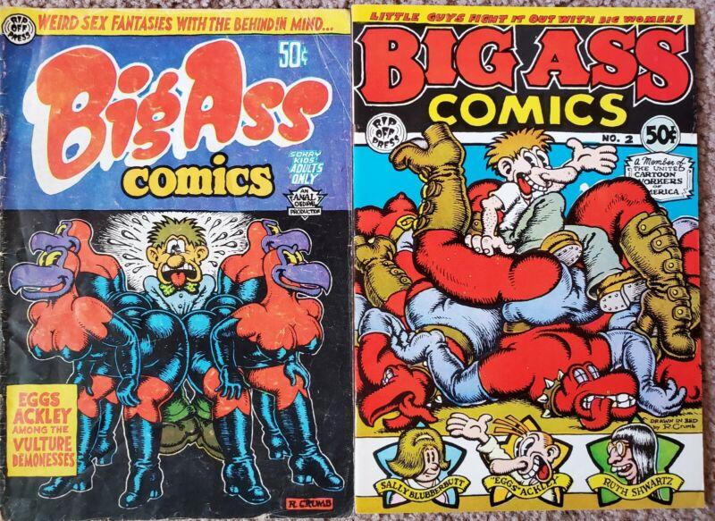 Big Ass 1 & 2 (1969) Crumb Underground Comic Free Shipping!