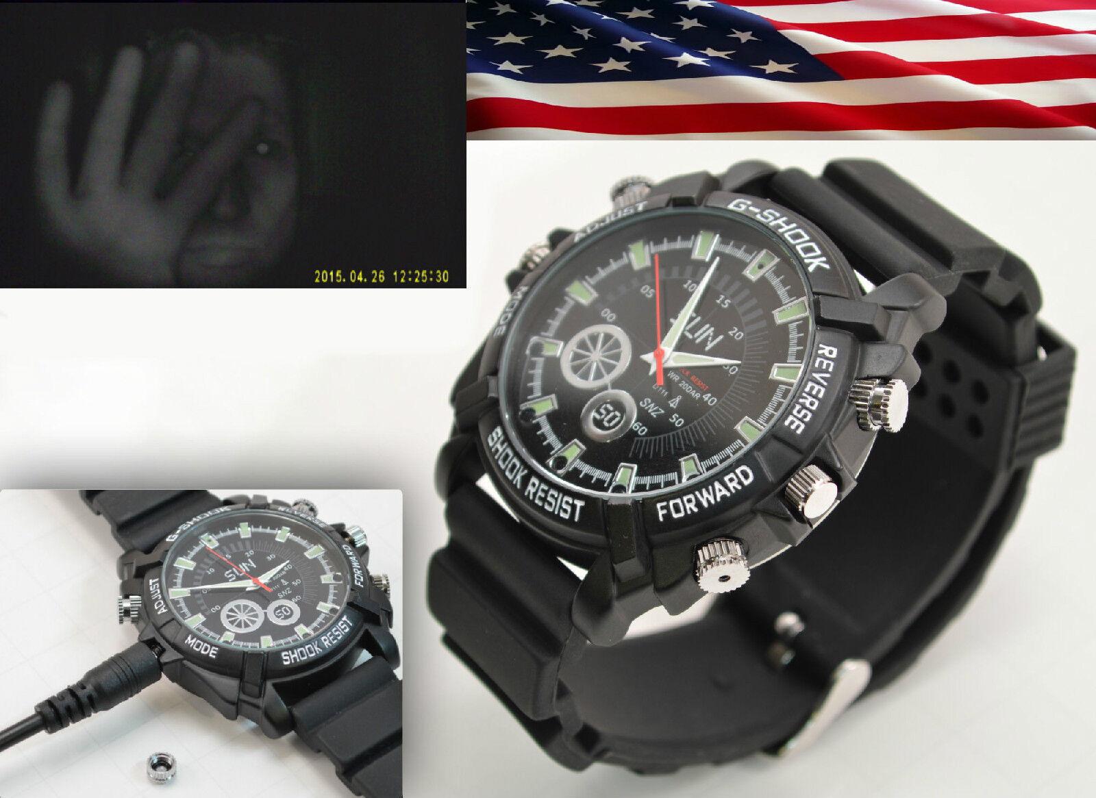 1080p Waterproof Spy Watch Infrared Night Vision Camera V...