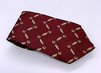 Chaps Ralph Lauren Tie Red Gold Black Polka Dot Silk 56 x 4 USA 1900 Ties 4 (Ralph Lauren Usa Sale)