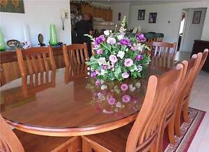 8 Seater Oval Dining Table with Glass Top Roxburgh Park Hume Area Preview