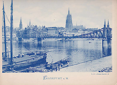 Riesen-Ansichtskarte Frankfurt am Main Stadtbild Hessen AK L. Klement