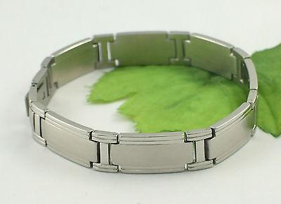 Gatik BR1017 Gents Stainless Steel Satin & Polished Link Bracelet