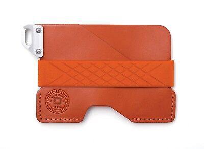 Dango Civilian Leather EDC Wallet Made in USA (Burnt Orange)