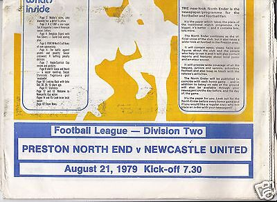 PRESTON NORTH END  V   NEWCASTLE UTD   2ND DIVISION  21/8/79
