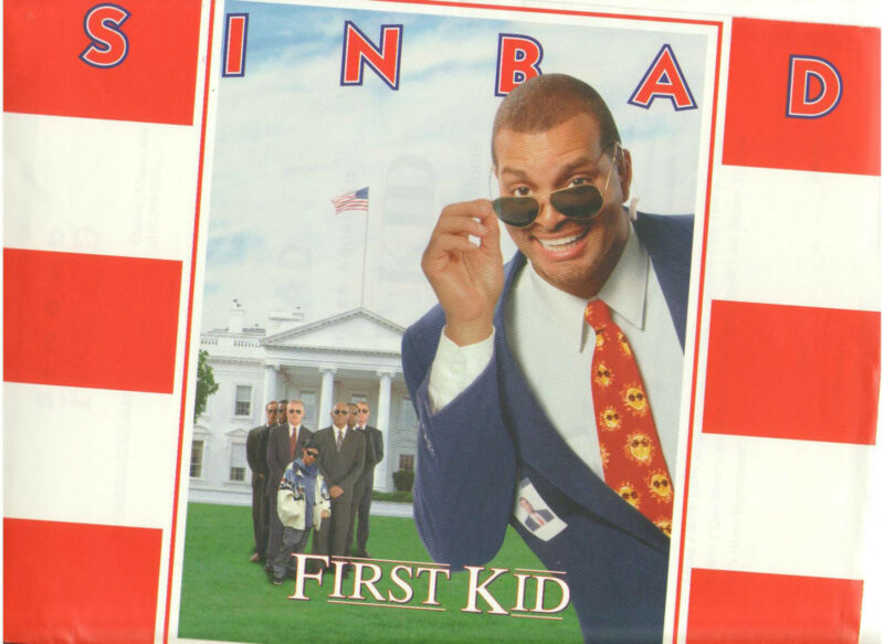 FIRST KID PRESS KIT SINBAD BROCK PIERCE WHITE HOUSE WITH PHOTO