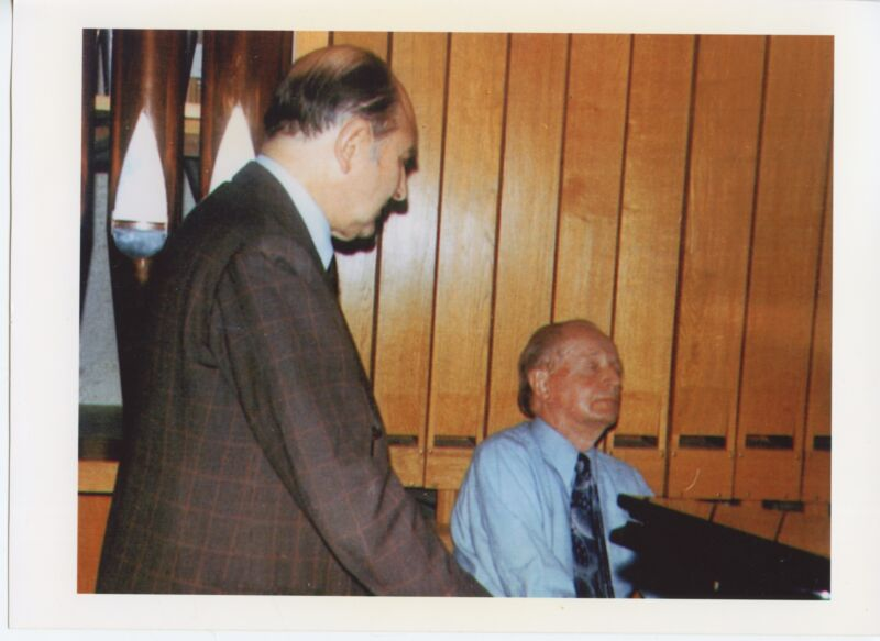 Wilhelm KEMPFF & Nikita MAGALOFF (Pianists): Two Color Photographs
