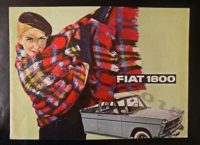 RARE FIAT 1800/21OO SALOON,STATION WAGON BROCHURE WITH A FULL FIAT PRICE LIST.