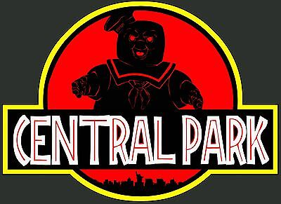 CENTRAL PARK T shirt GHOSTBUSTERS MASHUP SCI FI HORROR 80S CULT MOVIES COMEDY