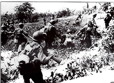 Us Infantrymen In Leyte Philippines  Wwii Dispatch Photo News Service