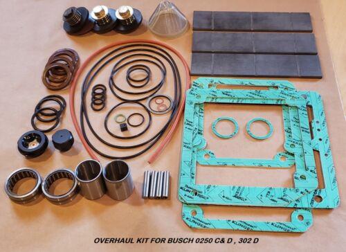 OVERHAUL KIT FOR BUSCH RA/RC 0250 C&D, 302 D VACUUM PUMP W/CF VANES
