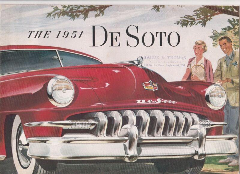 De Soto 1951 Catalog-Suburban,Club Coupe,Sportsman,Carry All Sedan,etc