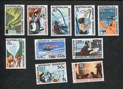 Set of 10 1966 Australia Antarctic Territory Science Stamps #L8-L10 & L12-L18