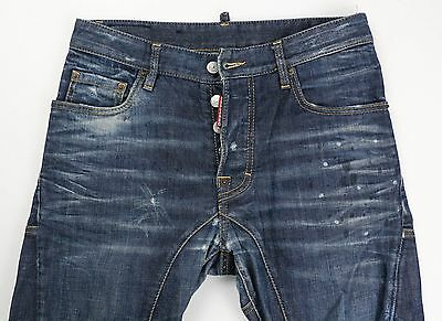 DSquared Dsquared2 Mens Cropped Tapered Denim Jeans Size 44 30 x 27 Italy $465