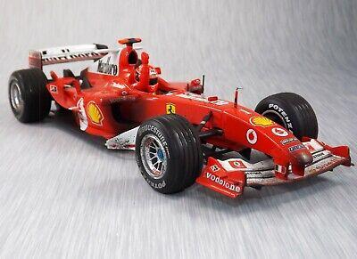1/18 Hot wheels F1 Ferrari F2004 Schumacher Race finished, tobacco - super rare!