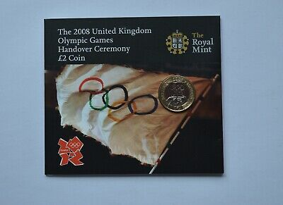 2008 Olympic Games Handover Ceremony £2 Pound  Coin Set Pack BUNC
