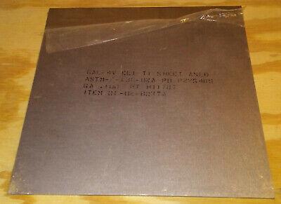 Titanium Sheet 0.1x12x12 2.3lb 6al-4v Eli Astm F136 Implant Grade