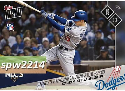 Cody Bellinger 2017 Topps Now #792 - Double in 1st Highlights 3-Hit Night