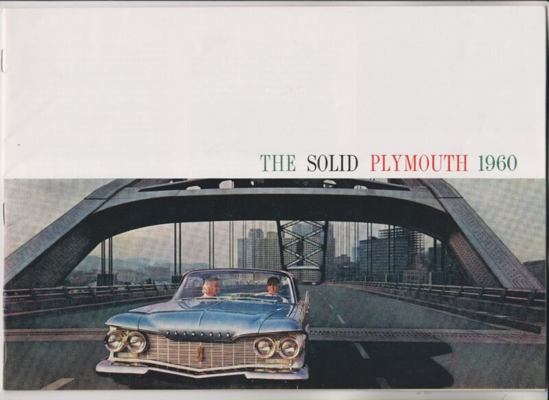 1960 SALES BROCHURE - THE SOLID PLYMOUTH 1960